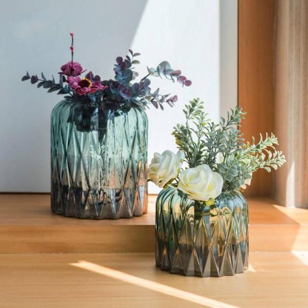 Home Decoration Geometric Glass Vase Modern Minimalist Flower Arrangement Living Room Decoration Decoration