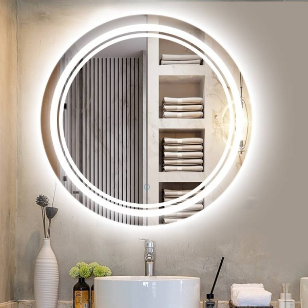 Luxury Home Round Led Makeup Mirror, Luxury Makeup Mirror With Lights