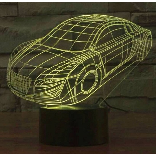 Hot sale Colorful car 3D Led lamp,usb touch switch Kids nightlight lighting bedroom lamp Acrylic engrave 3D visual night light