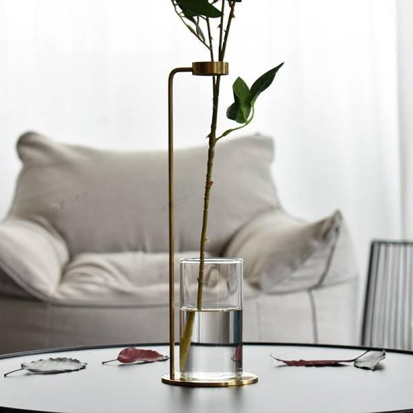 Hydroponic Plant Vase Metal Desktop Decoration Creative Vase Home Decoration Ornaments