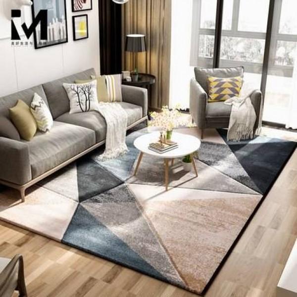 Ins Nordic Carpet Living Room Simple Modern American Tea Table Blanket Bedroom Full Bed Bed Blanket Nordic Wind