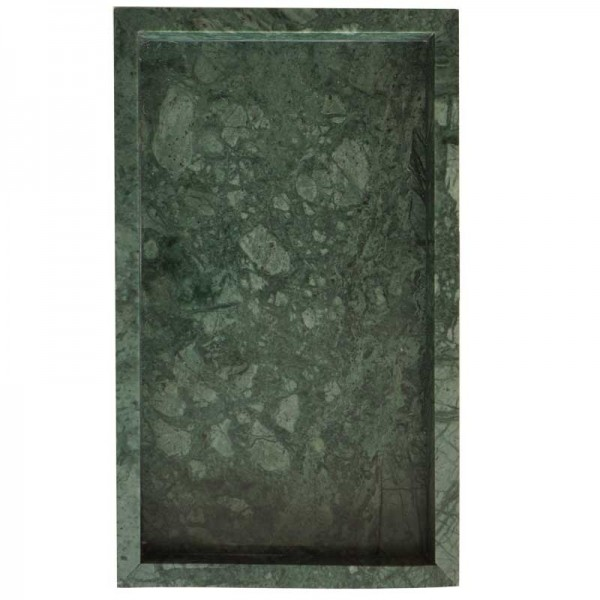 InsFashion elegent and premium rectangle natural marble tray for japanese style home decor and controlled pose use
