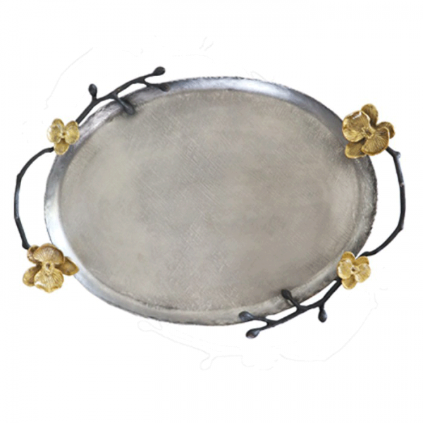 InsFashion vintage do old oval copper serving tray for arabic royal style restaurant decor