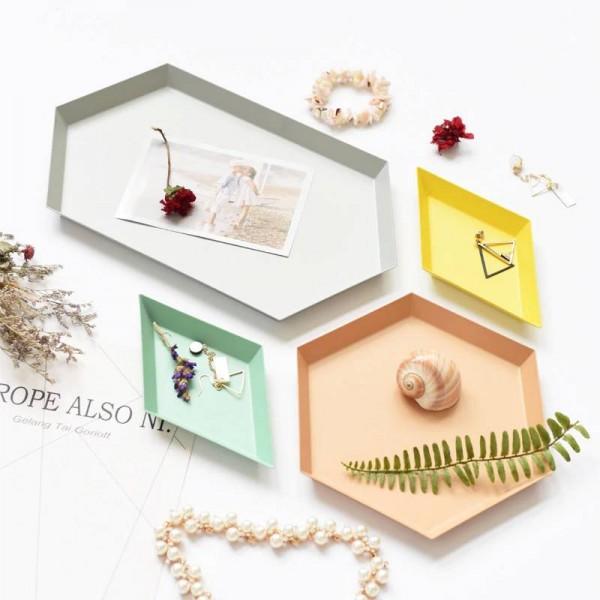 Jewelry Storage Tray Modern Minimalist Creative Cake Tray Aroma Desktop Key Cosmetics Tray