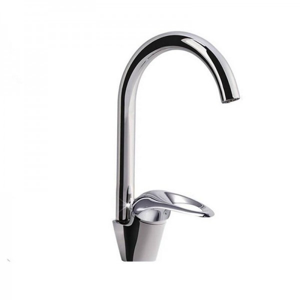 Kitchen Faucet 360 Degree Swivel Basin Sink Tap Faucet White Color Brass Newly Faucet 9099W