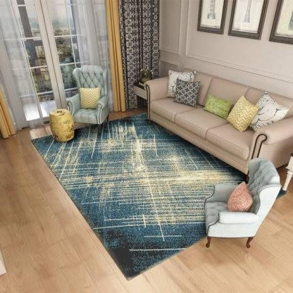 Living room full of simple modern room home bedroom bedside blanket Nordic rectangular coffee table mat