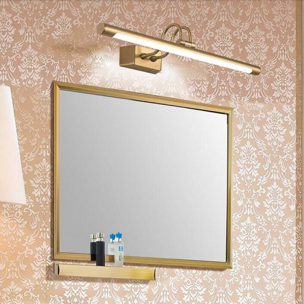 Copper Mirror Headlights American Bathroom LED Cabinet Lamp Nordic Makeup Hanglamp Home Deco Wall Sconce Light Fixture