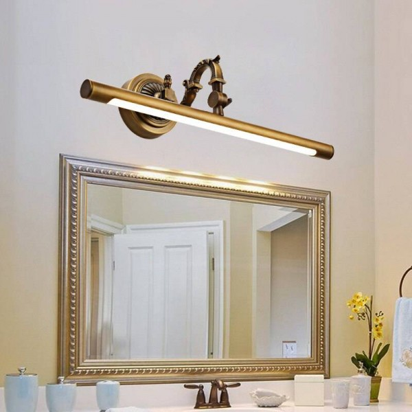 Nordic Makeup Hanglamp LED Copper Mirror Headlights American Bathroom Cabinet Lamp Home Deco Wall Sconce Light Fixture