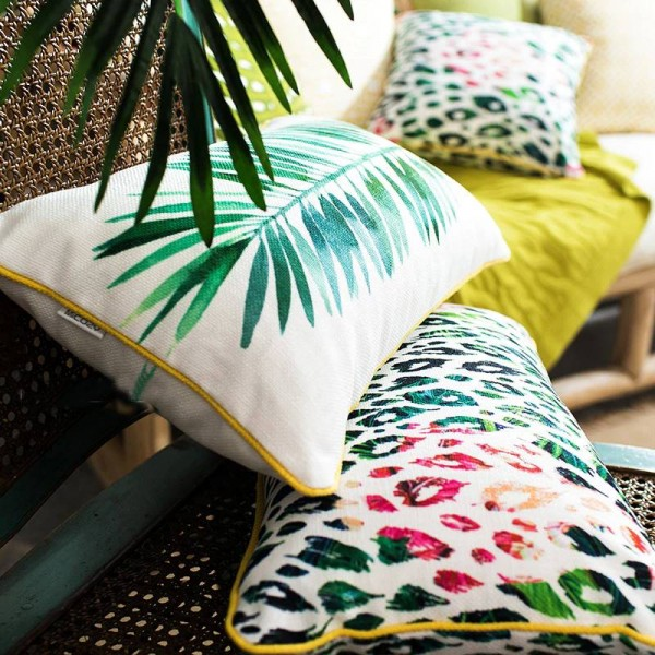 Luxury Brand Cushion Cover Tropical Plant Leaf Flamingo Decorative Pillows Case Almofadas Cojines Sofa Home Car Covers