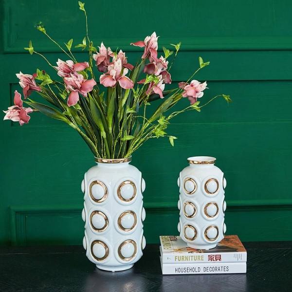 Luxury High Temperature Ceramic Vase Home Decoration Ornaments Dry Flower Decorations European Home Model Room