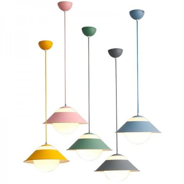 Macaron modern simple pendant lights multi lamps combo colorful dining room droplight foyer bedroom decoration Lighting fixture