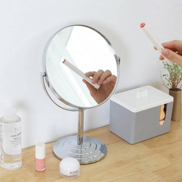 Makeup mirror desktop round oval table mirror simple ladies household metal double-sided vanity mirror wx8281449