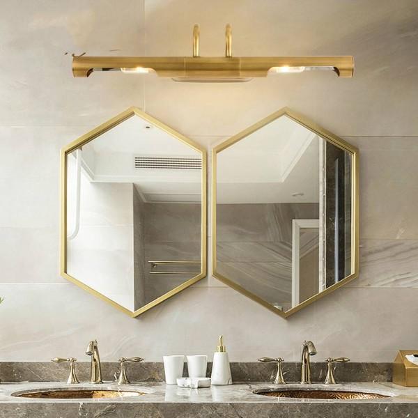 Mirror copper Led light makeup led Headlamp long Wall Lamp for dressing room Bedside Wall Lamp Hallway Bathroom mirror light