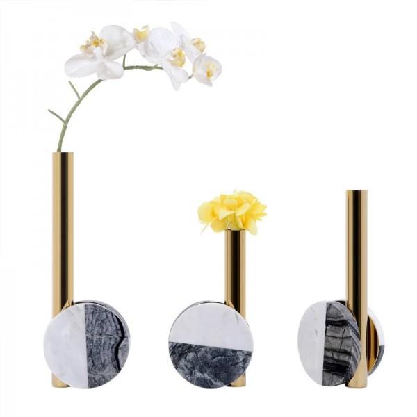 Model Room Decoration Light Luxury Creative Desktop Metal Marble Flower Modern Minimalist Home Model Room Decoration