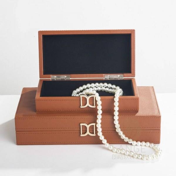 Model Room Jewelry Box Modern Home Neo-classical Bedroom Decoration Box Decoration Leather Storage Storage