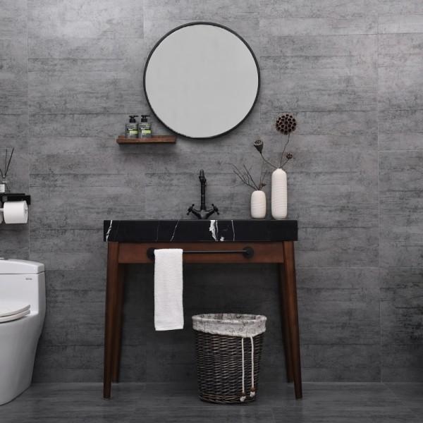 Luxury Modern 24 35 47 Single Bathroom Vanity Freestanding Marble Console Vanity With Shelf Mirror Towel Bar Modern 24 35 47 Single Bathroom Vanity Freestanding Marble Console Vanity With Shelf Mirror Towel