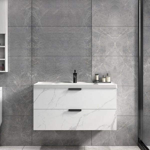 Luxury Modern 24 36 Floating Bathroom Vanity Wall Mount Single Sink Vanity With Drawers Marble Pattern Modern 24 36 Floating Bathroom Vanity Wall Mount Single Sink Vanity With Drawers Marble Pattern