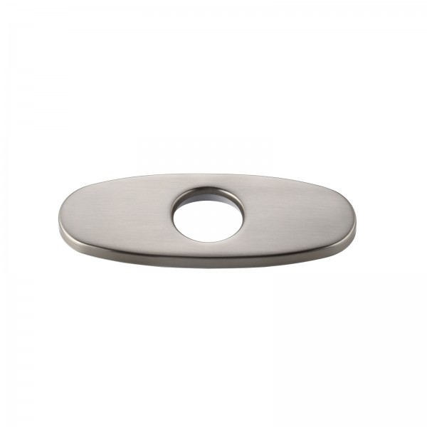 """Modern 4"""" Faucet Deck Plate Escutcheon for 1-Hole Faucet Installation Brushed Nickel Finish Stainless Steel"""