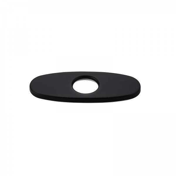 """Modern 4"""" Faucet Deck Plate Escutcheon for 1-Hole Faucet Installation Matte Black Finish Stainless Steel"""