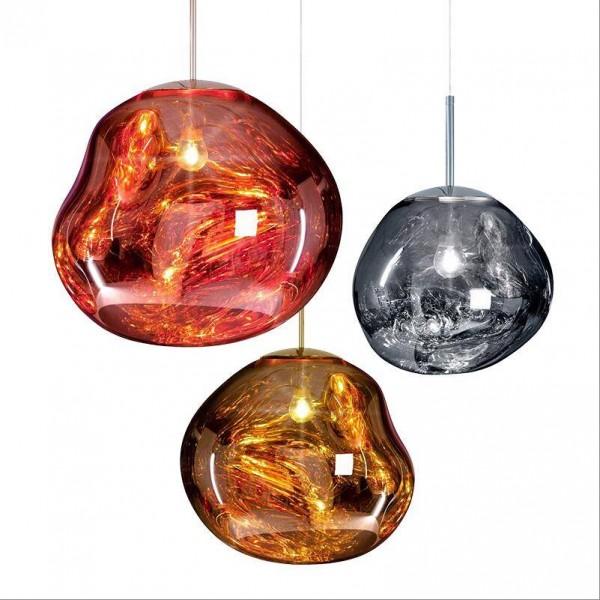 Modern Copper Magic Lava Pendant Lights Tom Dixon Melt Glass Transparent Pendant Lamp Classic Originality Hanglamp Parlor Lamp