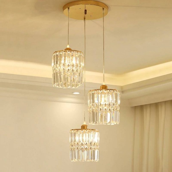 Modern Crystal LED pendant light luxury Fixture Indoor Lamp lamparas de techo Surface Mounting drop Lamp For Bedroom Dining Room