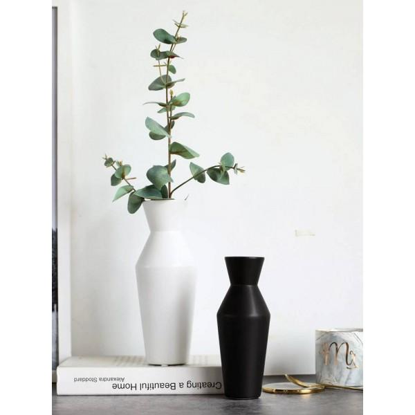 Modern Design Black And White Ceramic Vase Home Accessories Desktop Decoration Flower Soft Decoration