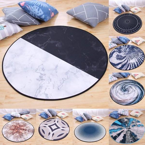 Modern Geometric Round Carpet for Living Room Children Bedroom Rugs Home Decor Carpet Children Kids Soft Play Mats