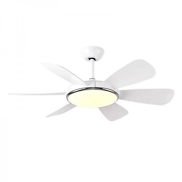 Modern LED pendant light Blue white fan leaf foyer bedroom ceiling lamp with fan Forward Reverse wind Two kinds mode fan lamp