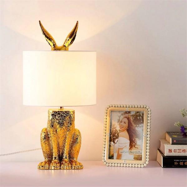Modern Rabbit Table Lamp LED Table Lights Bedside LED Desk Lamp Bedroom Living Room Dining Kitchen Fixtures Luminaire Industrial
