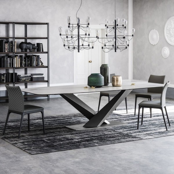 Luxury Modern Rectangular 63 71 79 Faux Marble Dining Table Black Metal X Base White Marble Dining Table Modern Rectangular 63 71 79 Faux Marble Dining Table Black Metal X Base