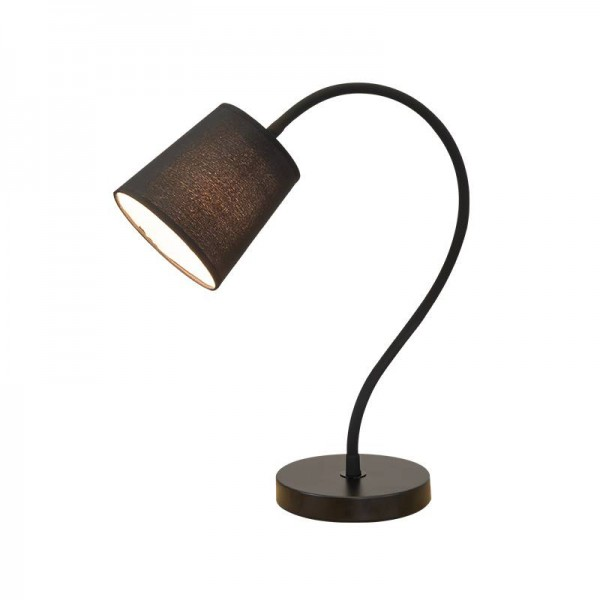 Modern simple style desk lamps study room table light black white body fabric lampshade E27 lamp lighting fixture