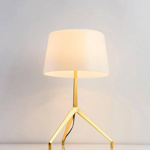 Modern simple table light nordic Creative reading lamp white black lampshade gold body Modern Scene 3W E27 led lamp AC220V 110V