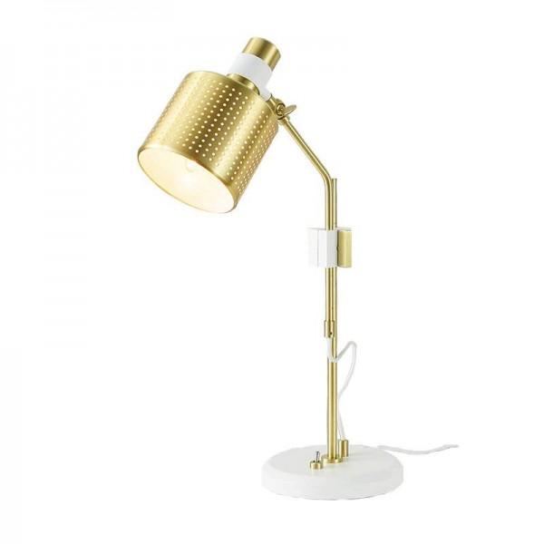 Modern table lamp Nordic simple design white gold color desk LED light 3W E27 AC220V input study room bedroom desk office light