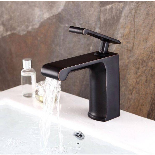 Solid NEW Style Black Bronze Bathroom Faucet Luxury Black Painted Brass Hot and Cold Basin Sink Tap B533