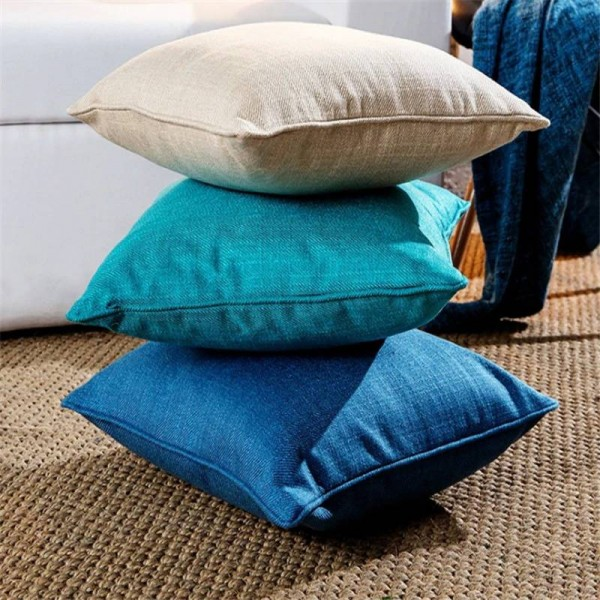 New Thicken Linen Solid Cushion Cover Throw Pillows Case Lumber Car Covers Almofada Pug Housse De Coussin,Sofa/Home/Hotel Decor