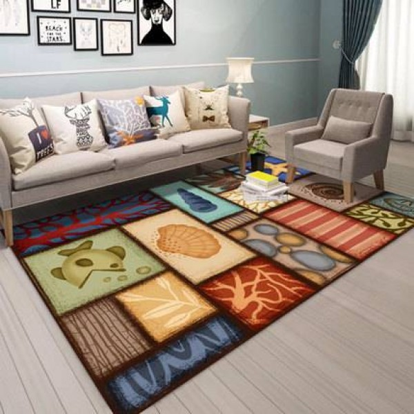 Nordic abstract modern minimalist art living room coffee table carpet American country bedroom full of home carpet
