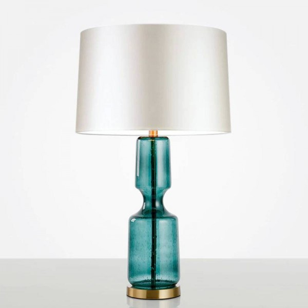 Nordic Art Deco Glass Table Lamp Bedroom Living Room Office Fabric Lamp Shade Desk Lights Decor Bedside Table Lights