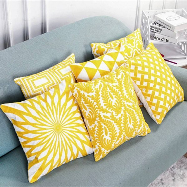 Nordic Cushion Cover High-end Embroidery Pillow Cover Colors Ramadan Decoration Luxury Cojines Decorativos Para Sofa Housse