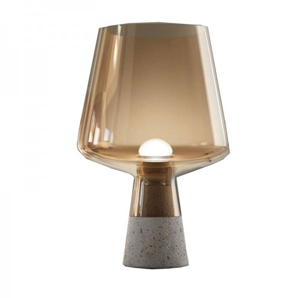 Nordic Glass cement Bedside Table Lamp post modern Table Light Study Room Living Room bedroom Desk Lamp Standing Light Fixtures
