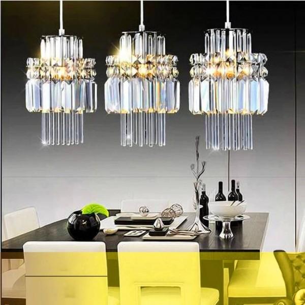 Nordic Lamp Loft Crystal Led Chandelier Modern Pendant Lamp Industrial Lustre Kitchen Fixtures Decorative Hanging Lamp Luminaire