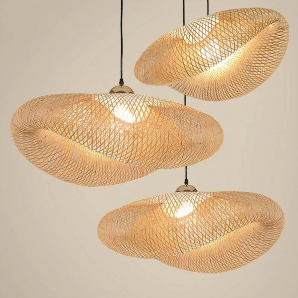 Nordic LED Wood Pendant Lamp Bamboo Kitchen Fixtures Led Pendant Light Suspension Home Indoor Dining Room Hanging Lamp Luminaire