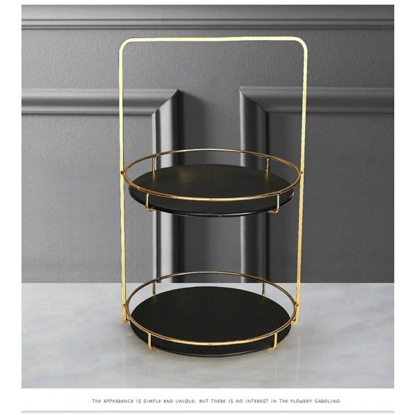 Nordic Luxury Jewelry Storage Rack Simple Modern Double-layer Rack Cosmetics Finishing Rack Soft Decoration