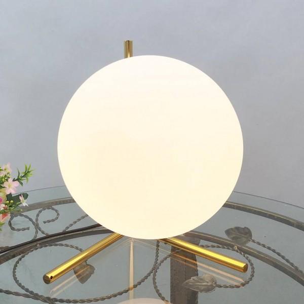 Nordic modern white glass table lamps for living room glass ball gold metal Bedroom Bedside table light industrial desk lamp