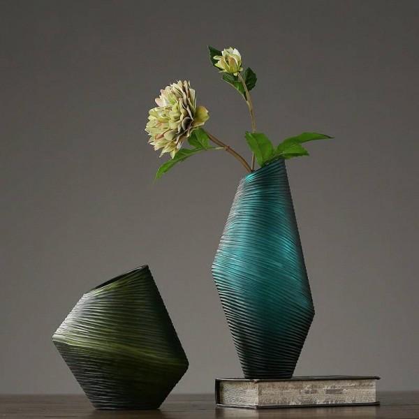 Nordic Simple Glass Vase Decoration American Creative Living Room Porch Flower Arrangement Ornament Decoration