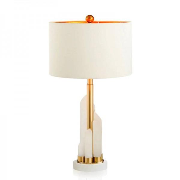 Nordic table Lamp Post Modern White Marble Luxury Simple gold metal Plated desk lamp Room Bedroom Bedside Design art decoration