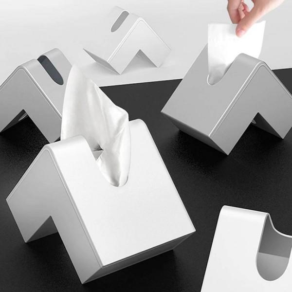Nordic Tissue Box Creative Container Design Plastic Home Bathroom Napkin Paper Container Paper Towel Napkin Case Home Decor