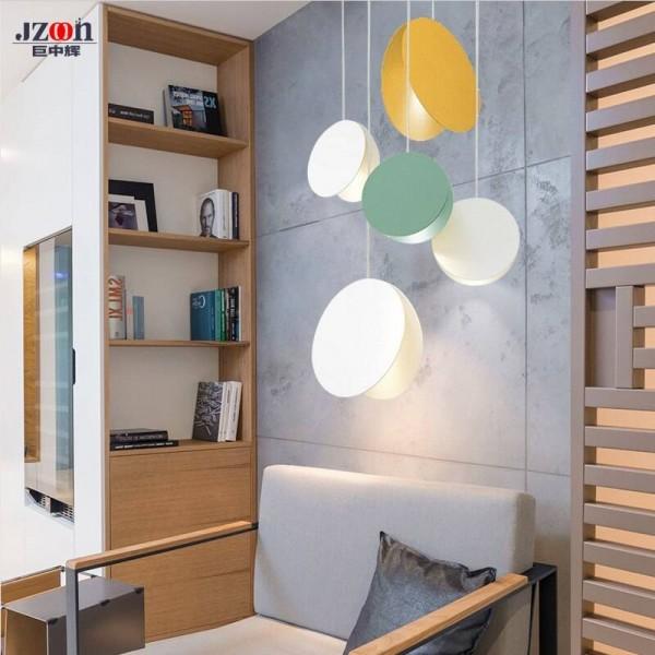 North simple Modern pendant Light DIY white yellow coffe dining room bedroom living room children's room decoration Suspension