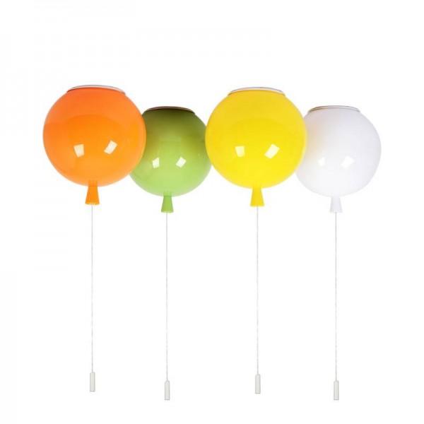 One combo 3pcs led Ceiling Light red green blue yellow Novelty Color Balloon kid Room bubble lamp Dia.30cm 35cm ball E27 bulb