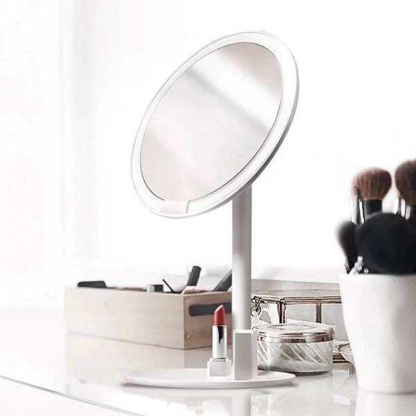 Pink makeup mirror desktop led lamp desktop smart fill light home folding portable dormitory mirror mx12261555