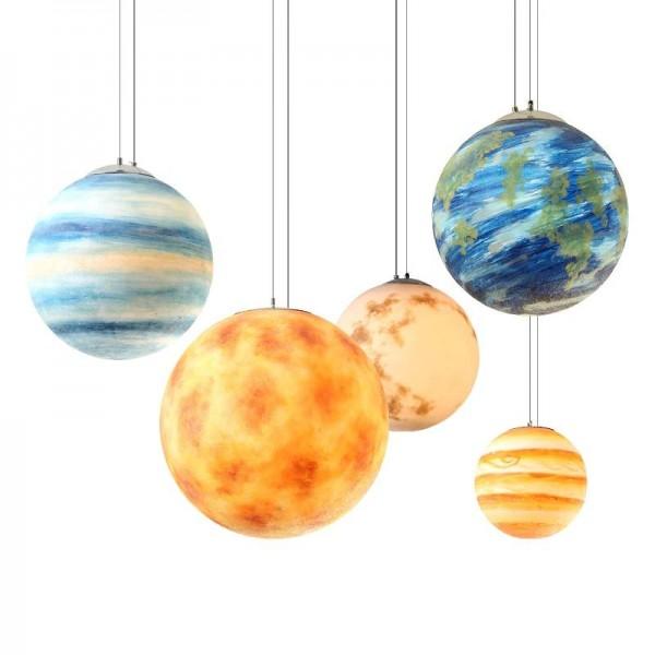 Luxury Planet Pendant Lights Moon Sun